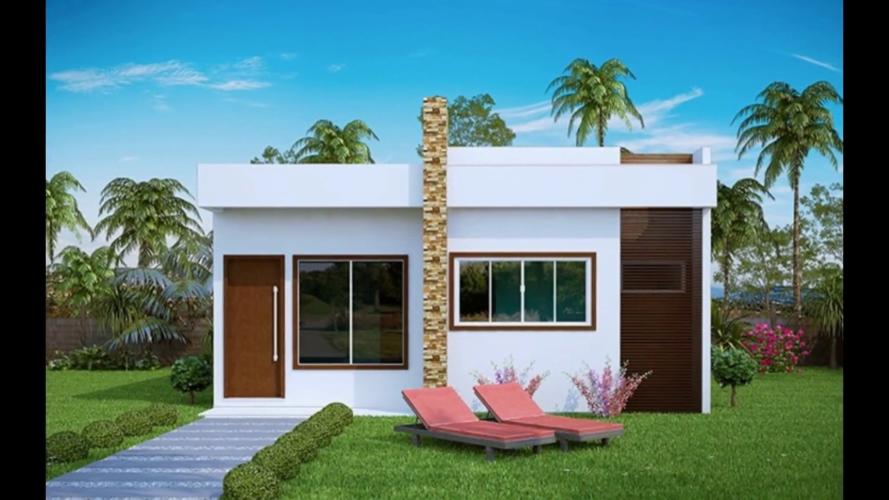 Modelos de casas pequenas 60 fotos projetos e plantas for Decoracion de casas minimalistas pequenas