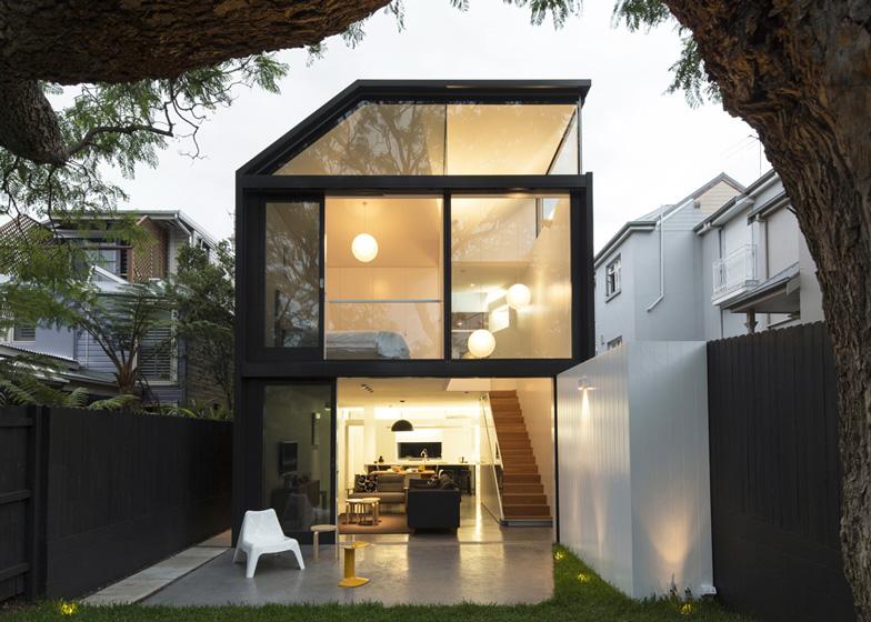 Modelo de casa pequena no estilo loft.
