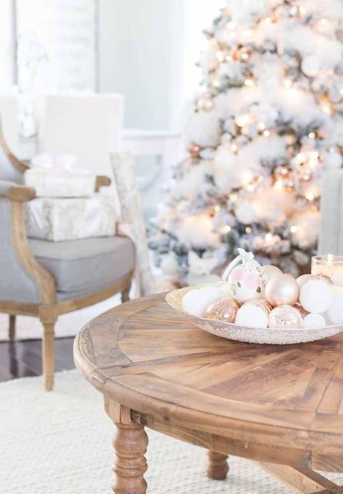 Natal todo branco para os amantes da cor