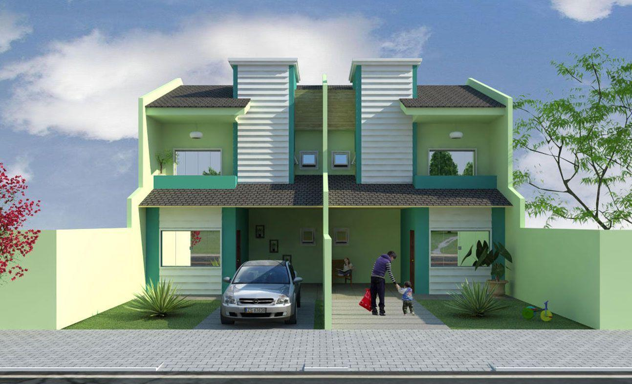 Pintura de casas geminadas
