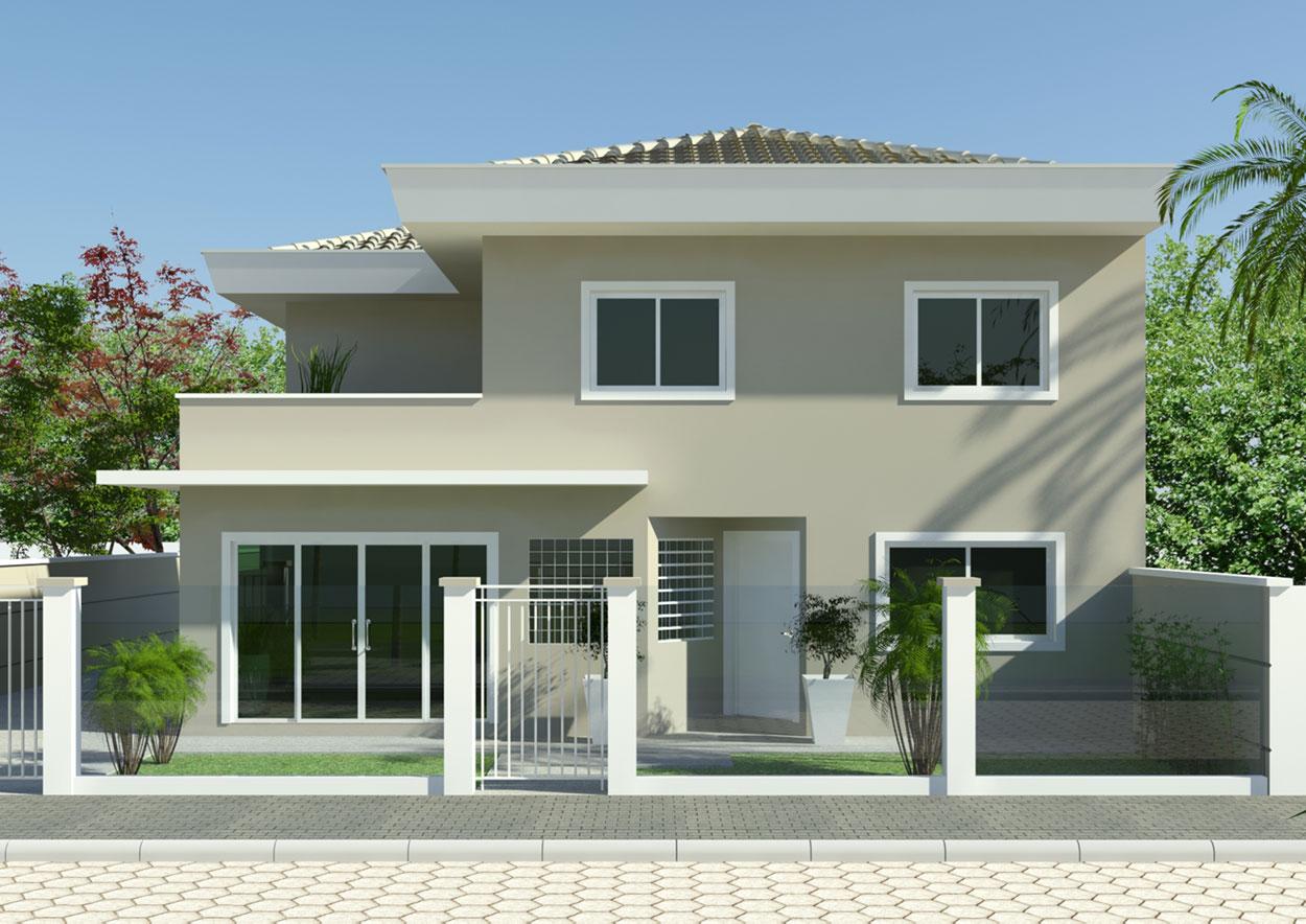 Cores de tinta para fachada de casas pintura with cores - Fachada de casa ...