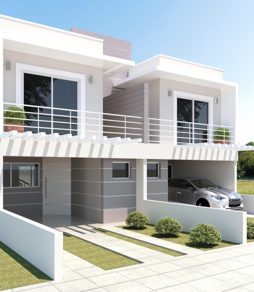 Cores de casas tend ncias e fotos para pintura externa for Pinturas de casas modernas