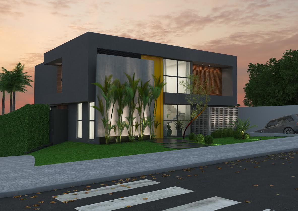 Cores de casas tend ncias e fotos para pintura externa for Pintura casa moderna