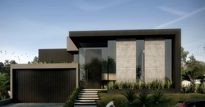 Cores de casas: os detalhes em cinza valorizam a pintura preta