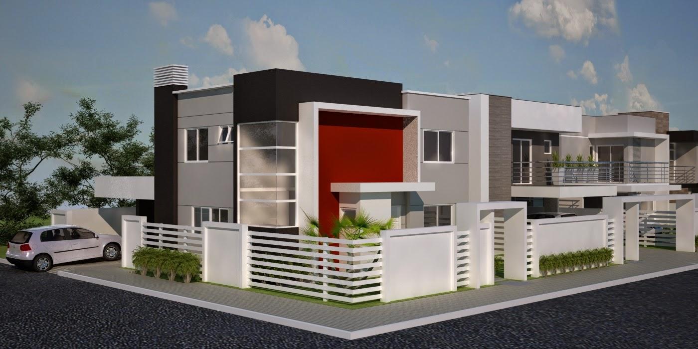 Cores de casas: como foi utilizado o tom sobre tom, o vermelho não pesou na fachada