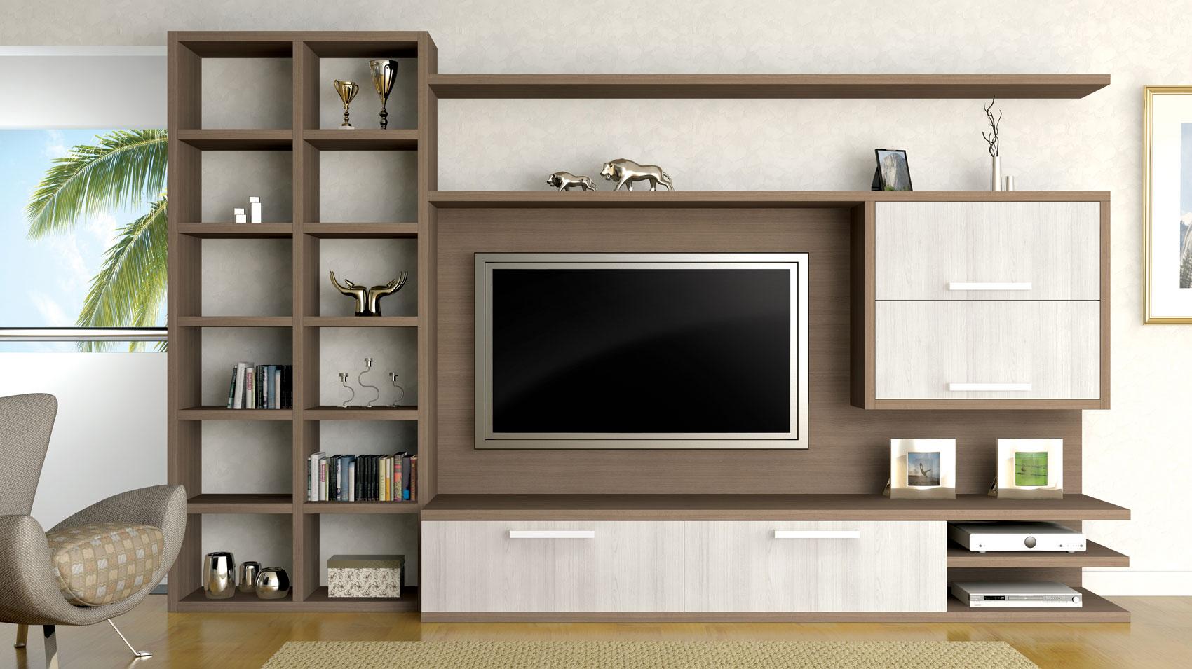 Sala planejada 60 ideias de decora o fotos e projetos - Armarios para sala de estar ...