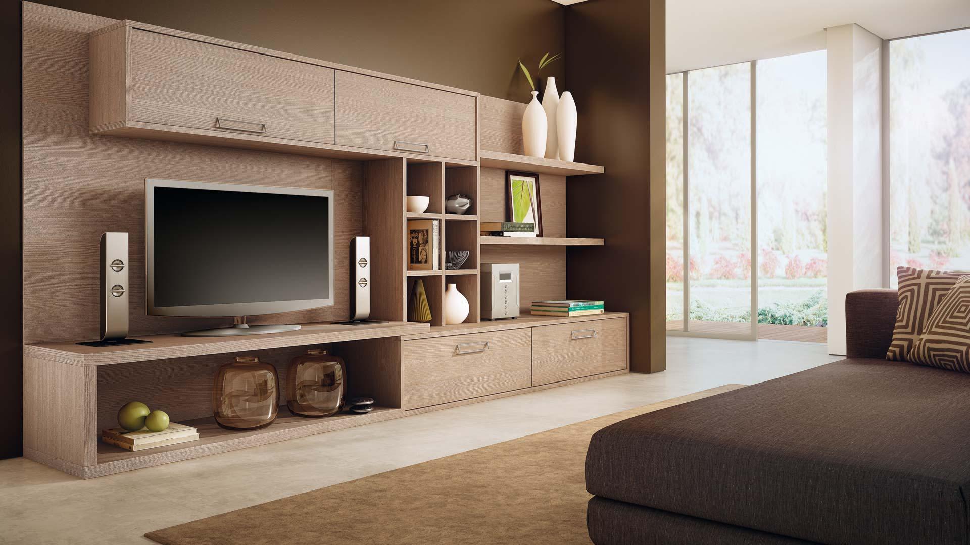 Fazer o móvel em um mesmo acabamento deixa o ambiente clean e moderno