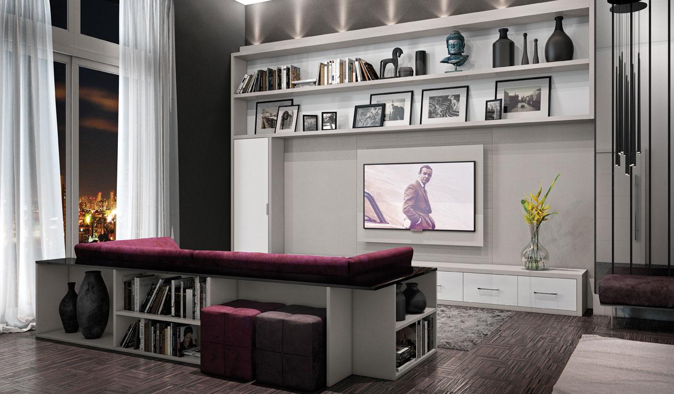 O sofá pode ganhar um detalhe útil na decoração