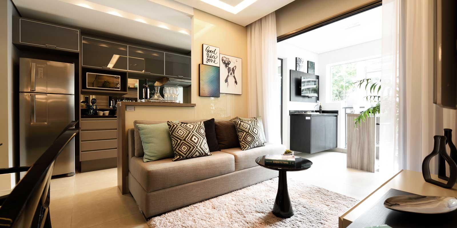 Decoraç u00e3o de Apartamento 60 Ideias com Fotos e Projetos -> Decoração Para Varanda De Apartamento Simples