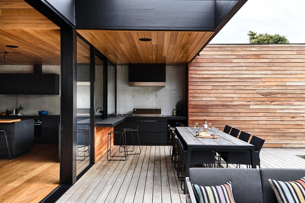 Integração da cozinha com a área externa