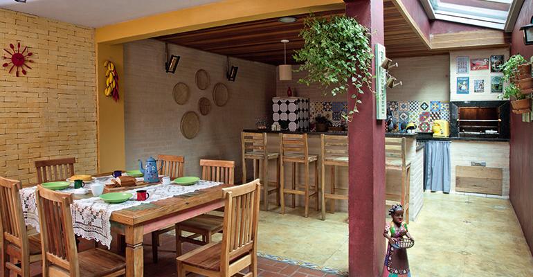 Cozinha externa simples