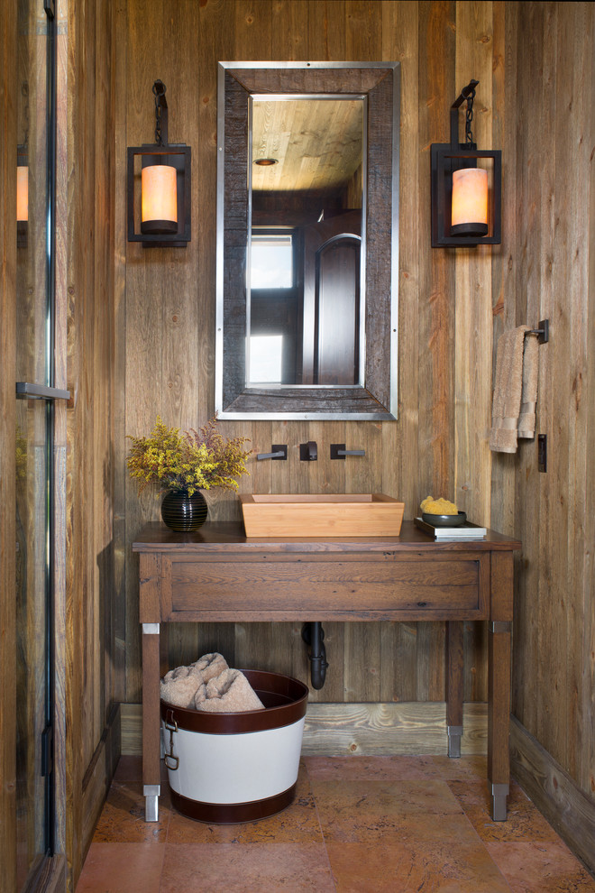 Banheiro r stico 55 ideias com fotos e projetos for Moderno bagno ranch