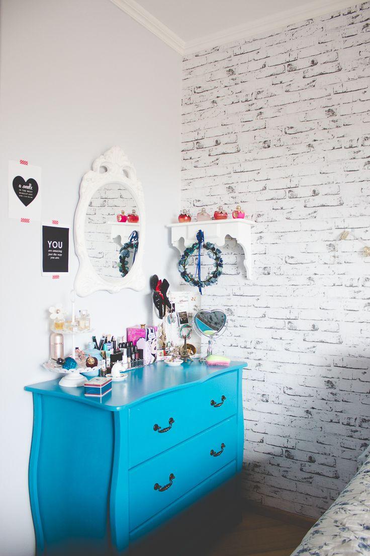 Mesa De Maquiagem 60 Ideias Para Decorar E Organizar ~ Espelho Decorado Para Quarto E Quarto Feminino Vintage