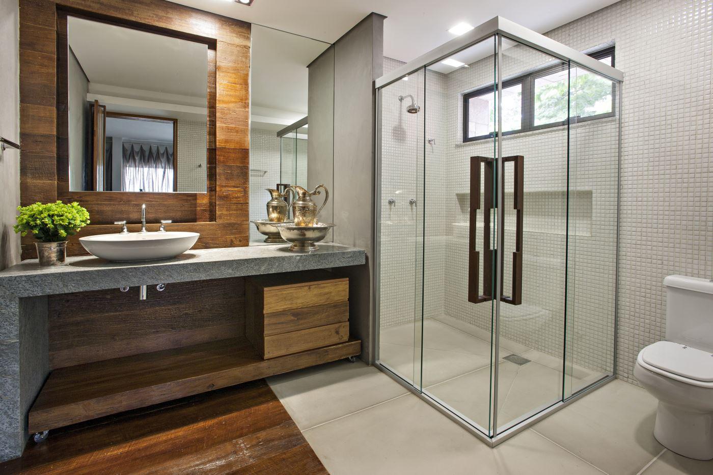 Banheiro r stico 55 ideias com fotos e projetos for Casa de muebles usados en montevideo