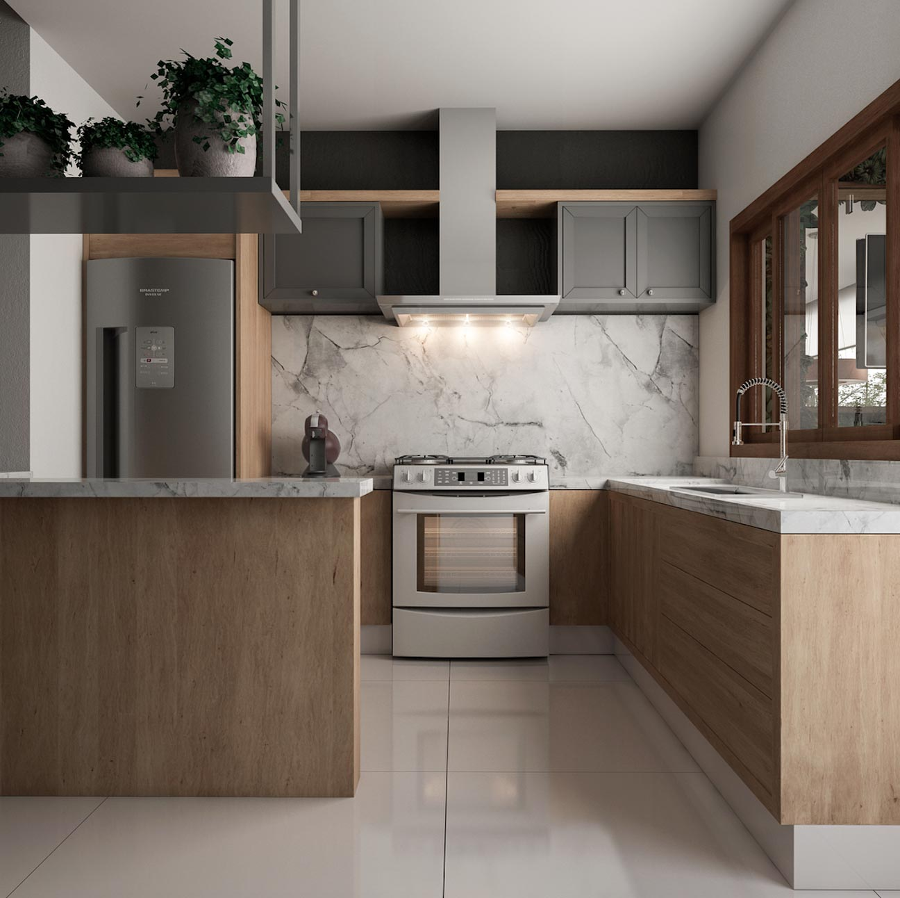 Cozinhas Modernas Pequenas Americanas Tendencias Para Cozinhas