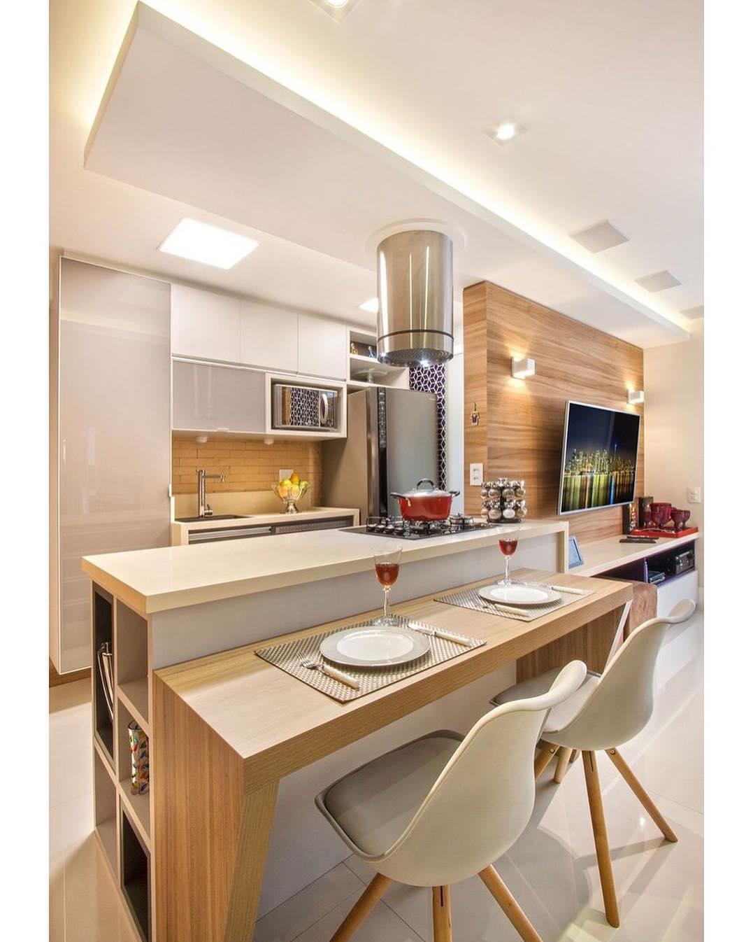 Cozinhas Americanas Pequenas Sala Estar Cozinha Americana Pequena