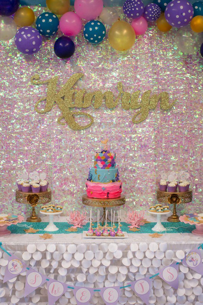 Festa Sereia 65 Ideias de Decoraç u00e3o e Fotos do Tema -> Decoração De Pequena Sereia Simples