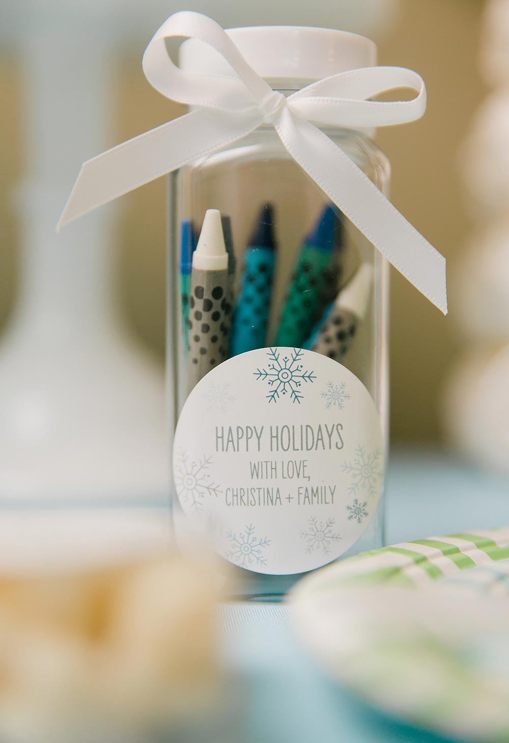 Giz de cera para escrever os desejos e objetos para o próximo ano!