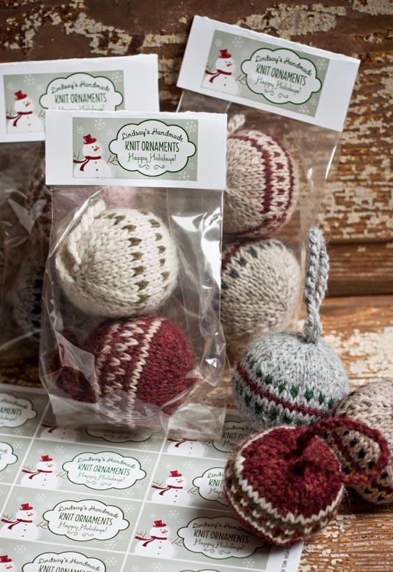 Ornamentos para árvore de Natal em papel, lã e retalhos de tecido