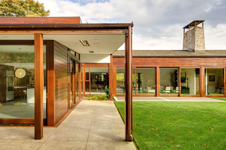 Casas em l 63 projetos com plantas e fotos para se inspirar for Casa minimalista 60m2