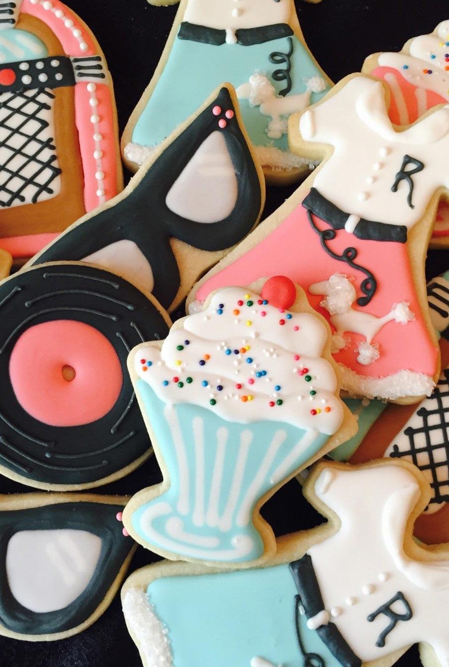 Doces antigos anos 50: biscoitinhos confeitados abrem o apetite!