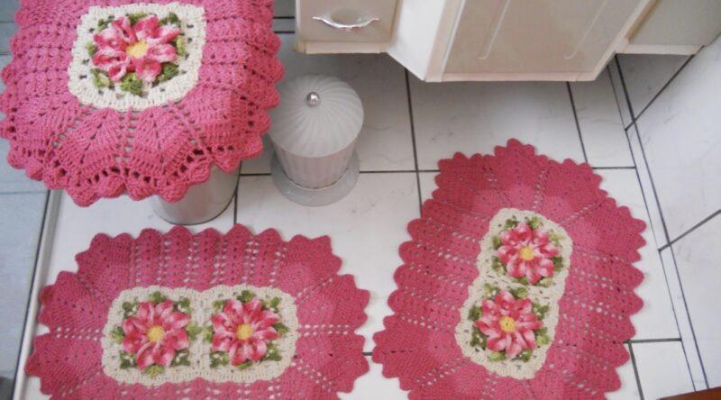 Jogo de banheiro de crochê: 60 ideias e passo a passo