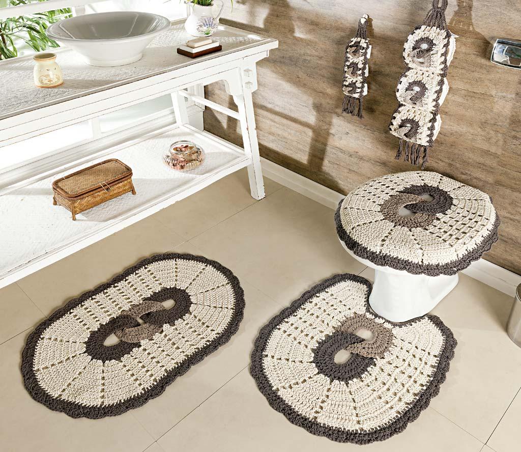 Jogo de banheiro preto passo a passo : Jogo de banheiro croch? fotos ideias e passo a