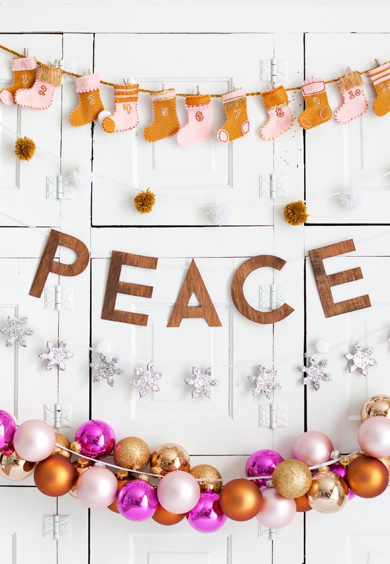 Enfeites de Natal artesanais