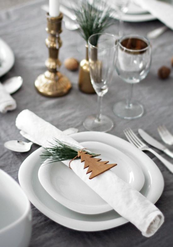 Continuação dos enfeites de Natal para mesa fáceis de fazer