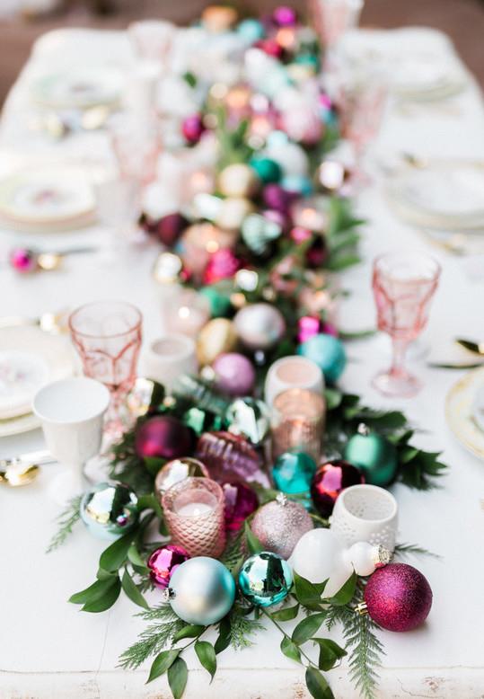 Enfeites de Natal para mesa