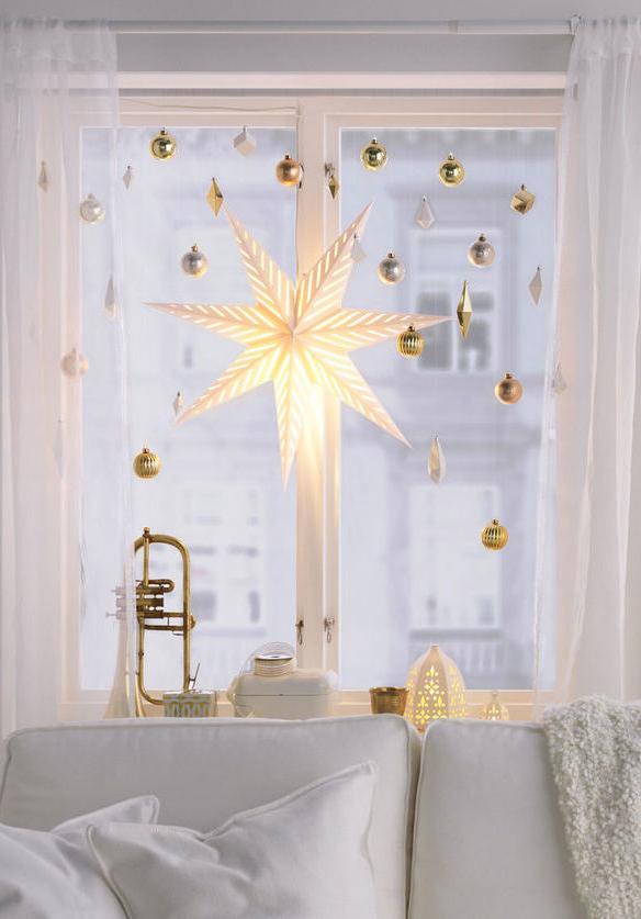 Decoração natalina para janelas
