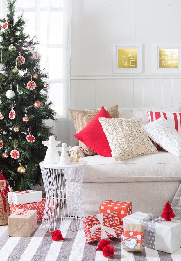 Enfeites de Natal decorativos para sala de estar