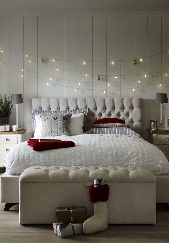 Luzes de Natal: decoração quarto