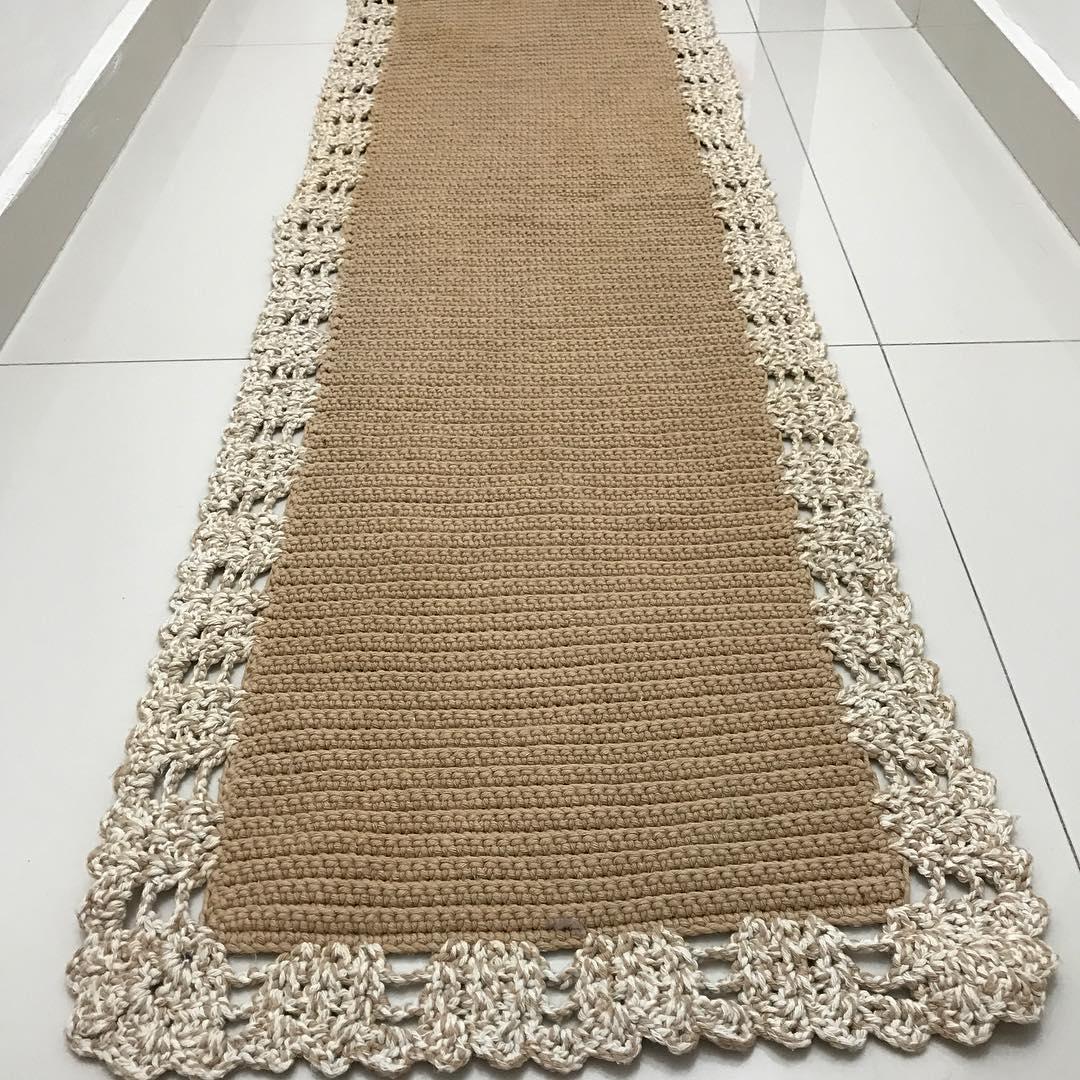 Passadeira De Croch 60 Ideias Fotos E Passo A Passo -> Tapete De Croche Oval Simples Passo A Passo