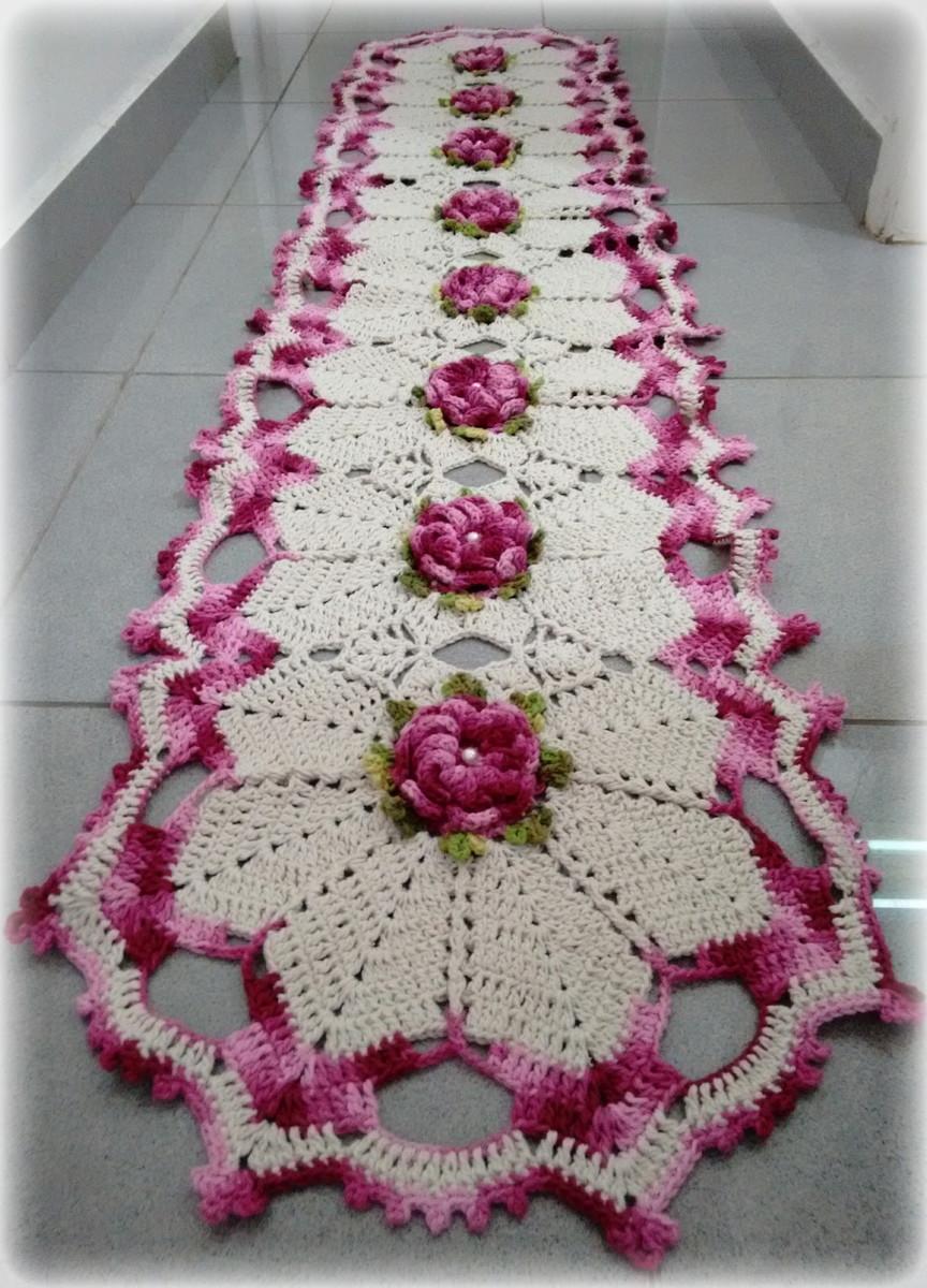 Passadeira De Croch 60 Ideias Fotos E Passo A Passo -> Fotos De Tapete De Croche