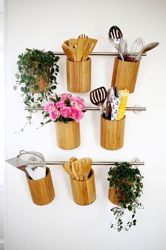 Porta temperos de bambu