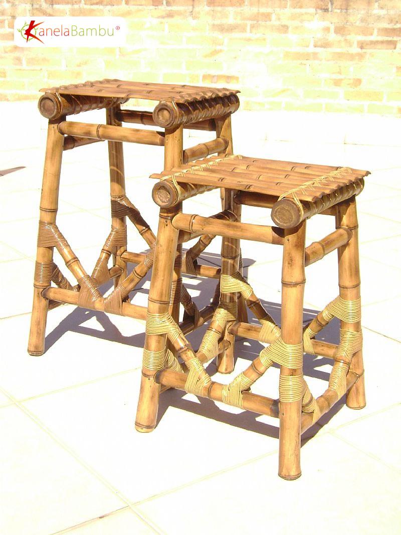 Ghế đẩu bằng tre