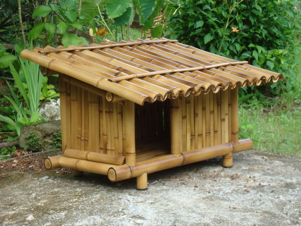 Casa de cachorro de bambu