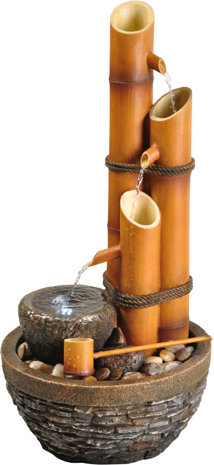 Deixe seu cantinho mais aconchegante com a fonte natural de bambu