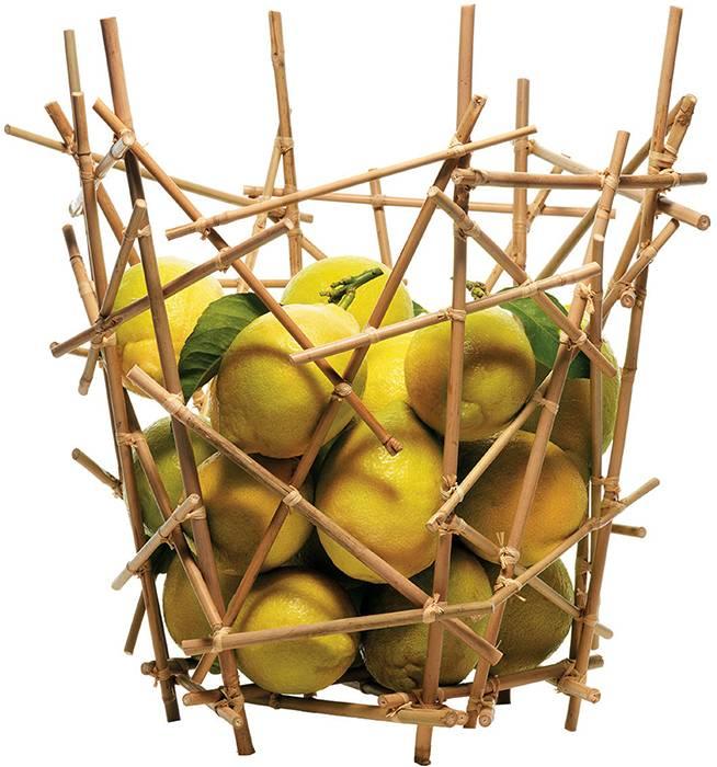 Bát trái cây tre