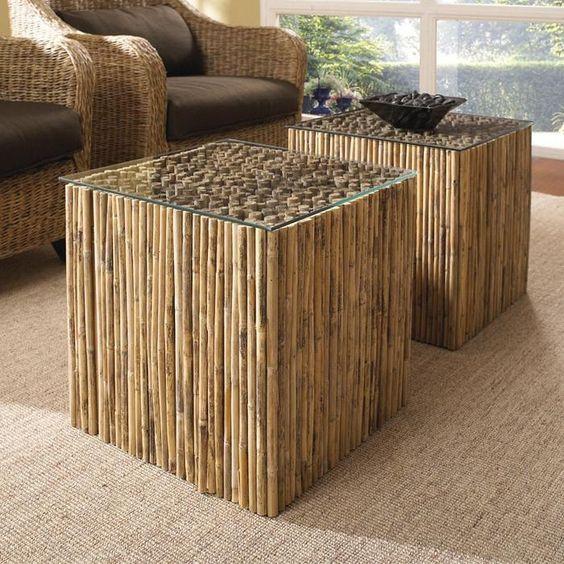 Mesa de centro de bambu
