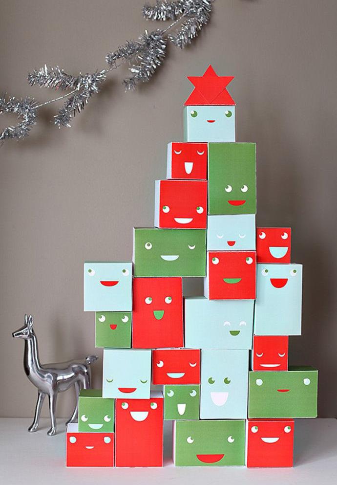 Decoraç u00e3o de Natal Simples e Barata 60 Ideias Criativas com Fotos -> Decoração De Natal Simples Escola