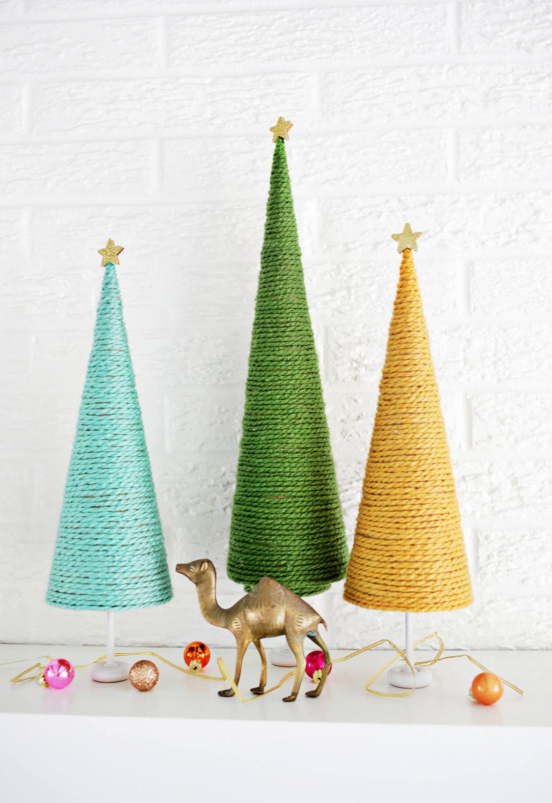 Decoração de Natal simples e barata arvores