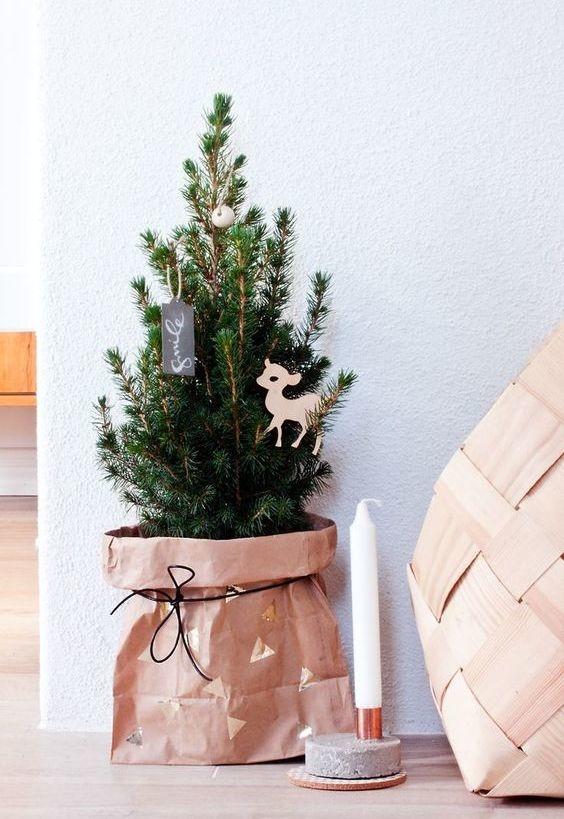 Decoração de Natal reciclável.