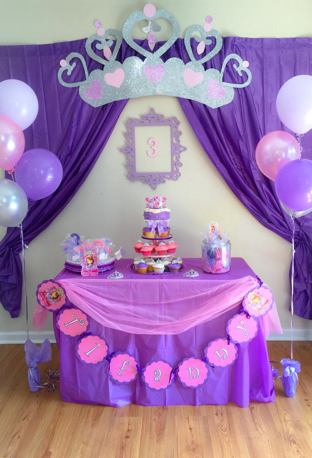 Festa Princesa Sofia 60 Ideias de Decoraç u00e3o e Fotos do Tema -> Decoração De Aniversário Princesa Sofia