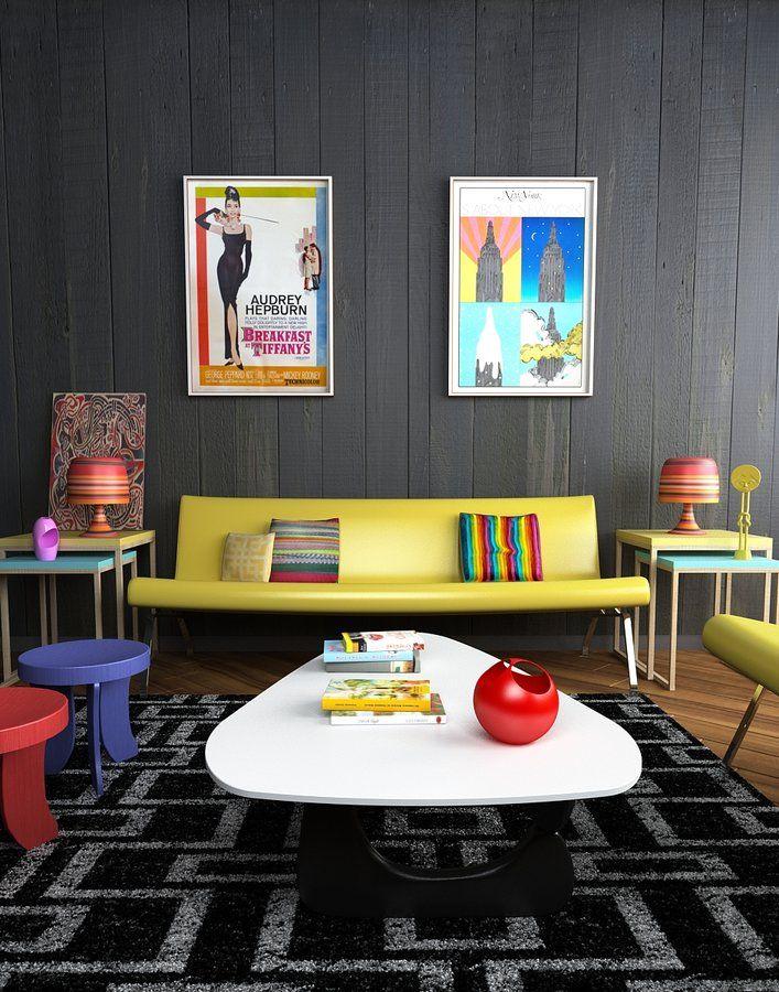 Sala Colorida: 60 Ideias e Fotos de Decoração