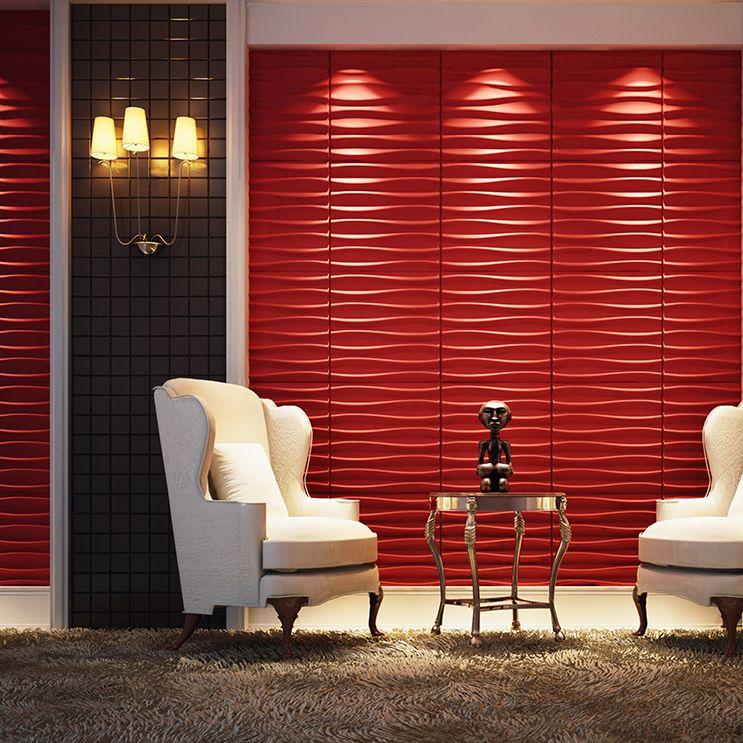 60 Salas Com Sofá Vermelho Incríveis: Revestimento 3D: 60 Ideias Impressionantes Na Decoração