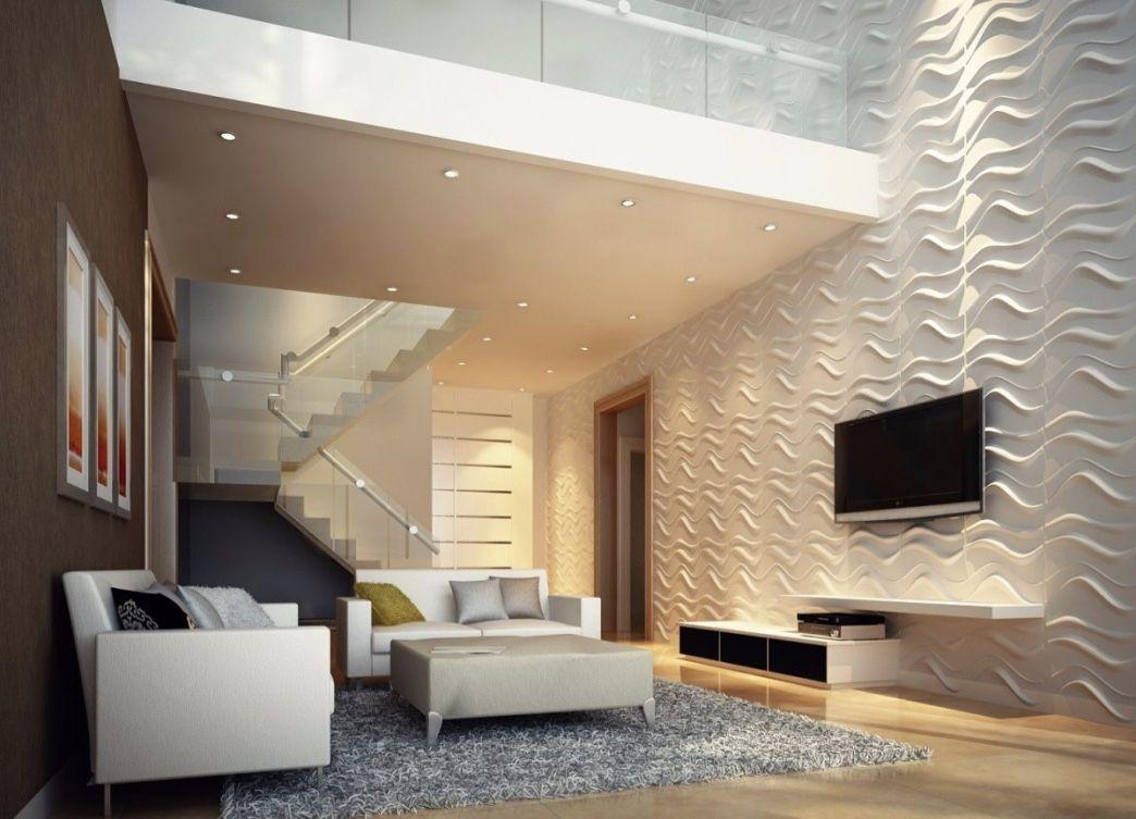 Revestimento 3d 60 ideias impressionantes na decora o for Azulejo para pared de sala