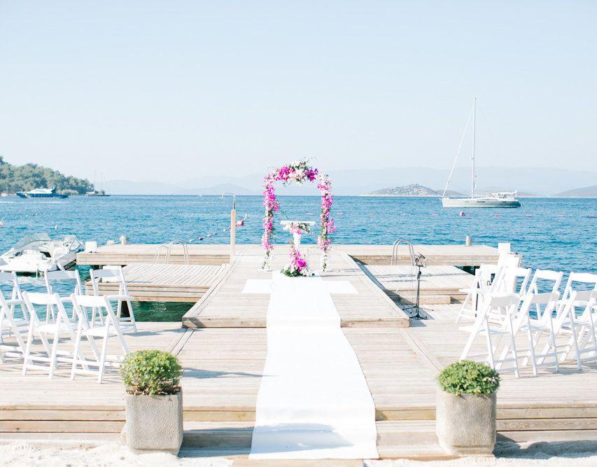 Decoraç u00e3o de Casamento na Praia 60 Ideias, Fotos e Como Fazer -> Decoração De Casamento Na Praia