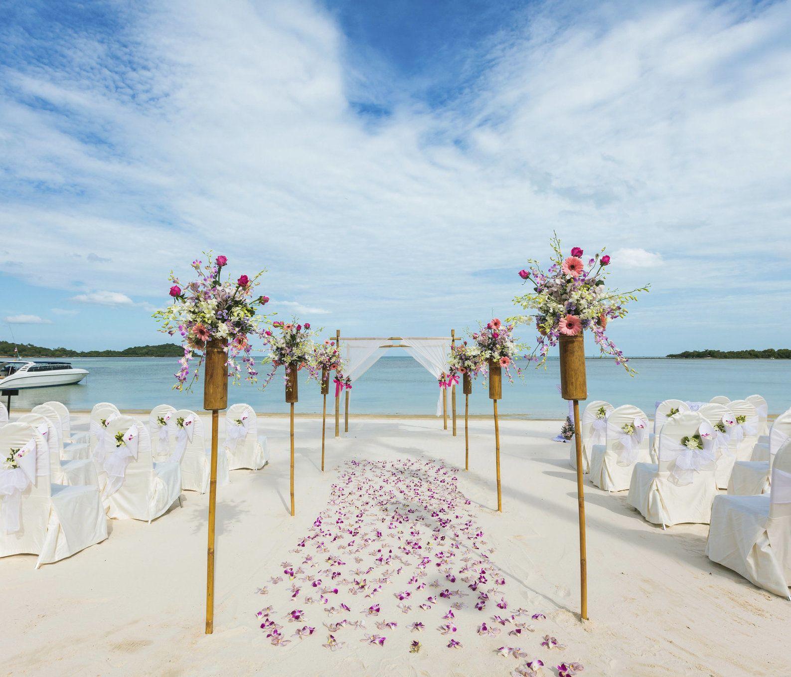 decoraçao de casamento na praia lindas